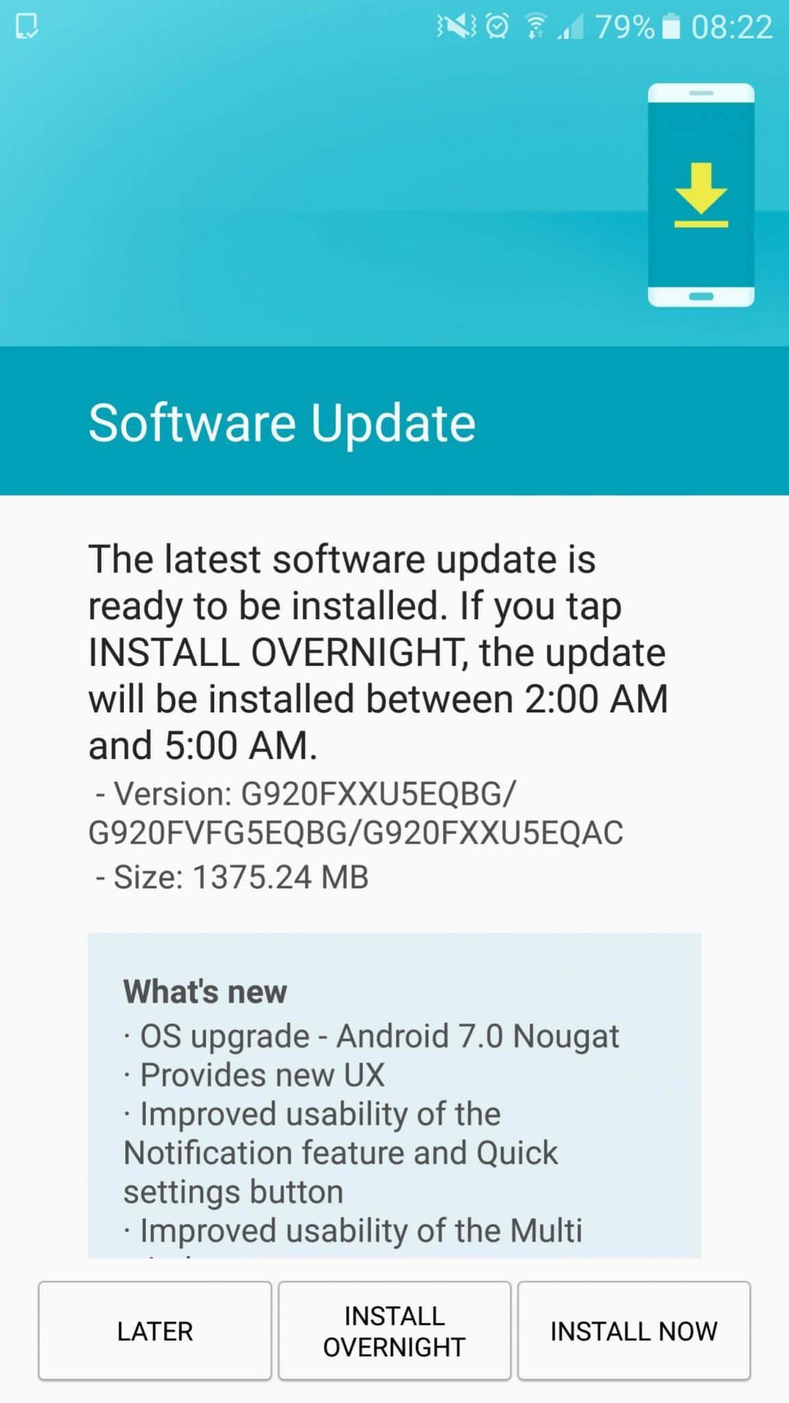 Android Nougat para Galaxy S6 - Samsung começa a liberar Android Nougat para Galaxy S6 e S6 Edge