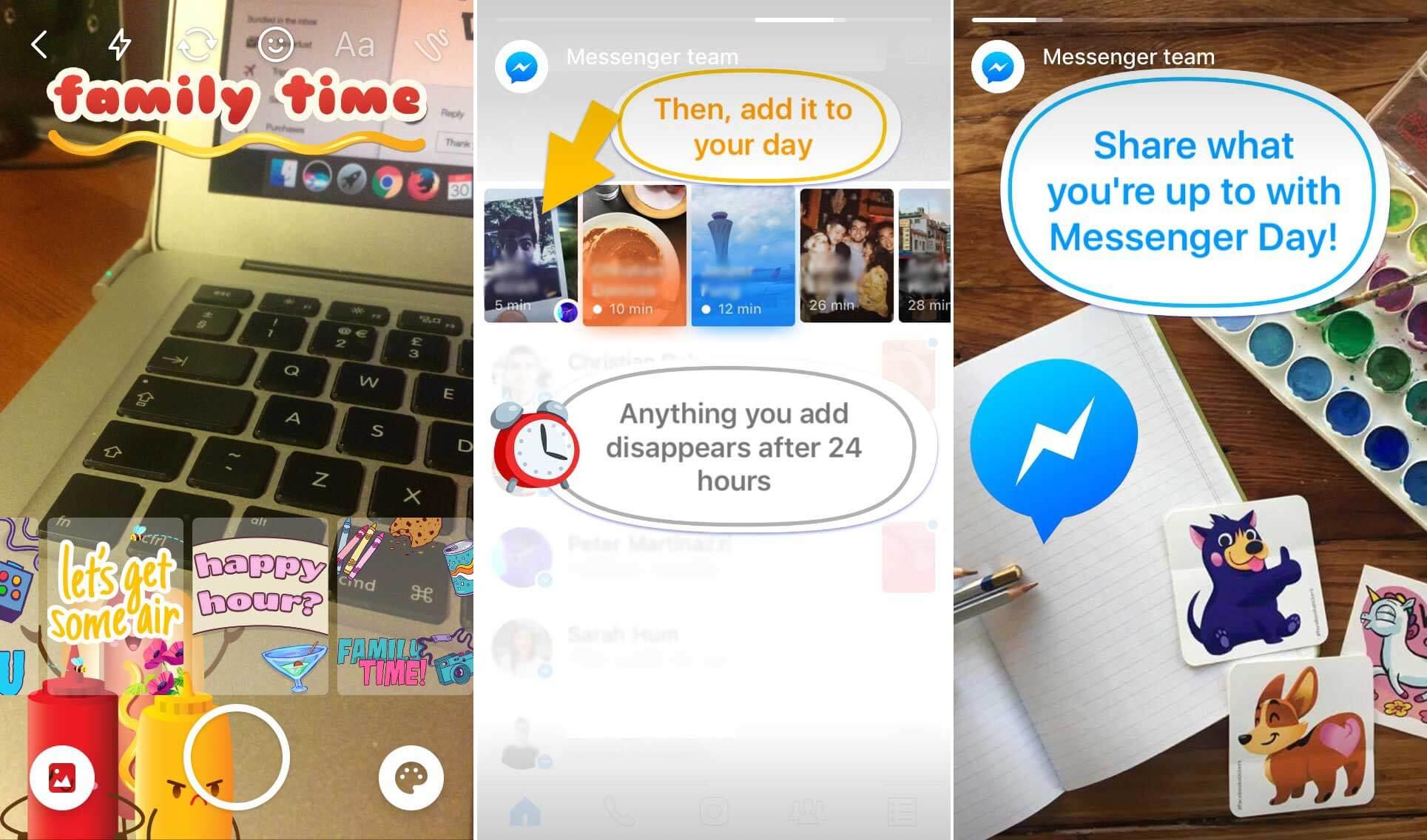 """Cópia do Snapchat, Facebook Stories chamado """"Messenger Day"""" é lançado oficialmente"""