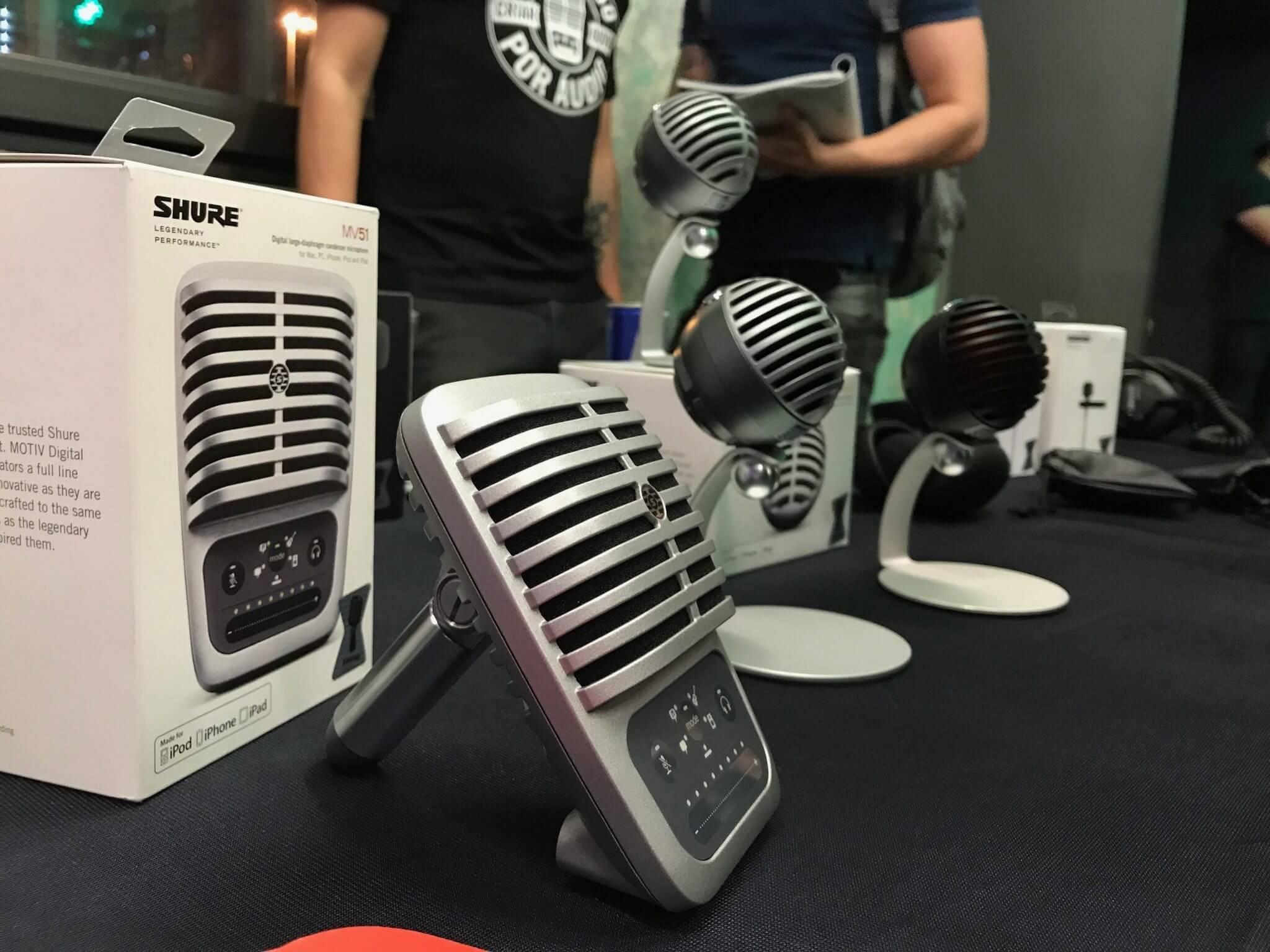 Shure apresenta linha de microfones motiv para influenciadores digitais