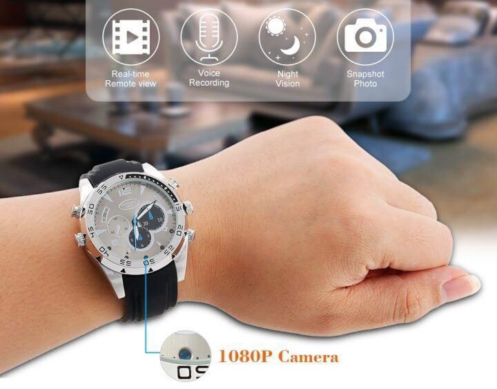 Relógio com câmera - TomTop