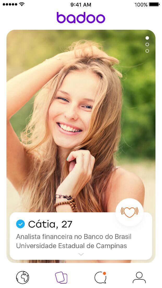 Unknown - Você conhece a nova interface do Badoo?
