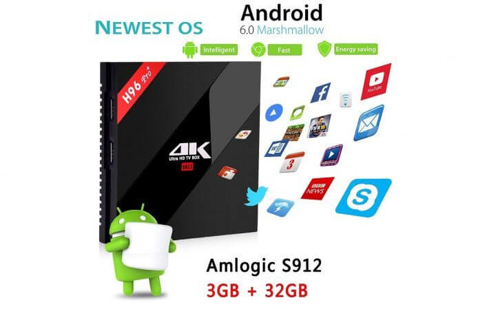 Smart TV Box Android H96Pro+