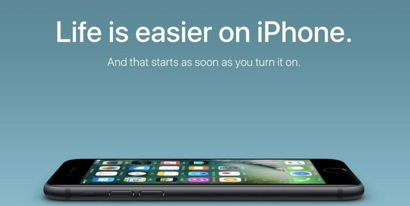 """appleandroidswitchersite 800x402 - Apple promove """"Switch"""", só que para o iPhone"""