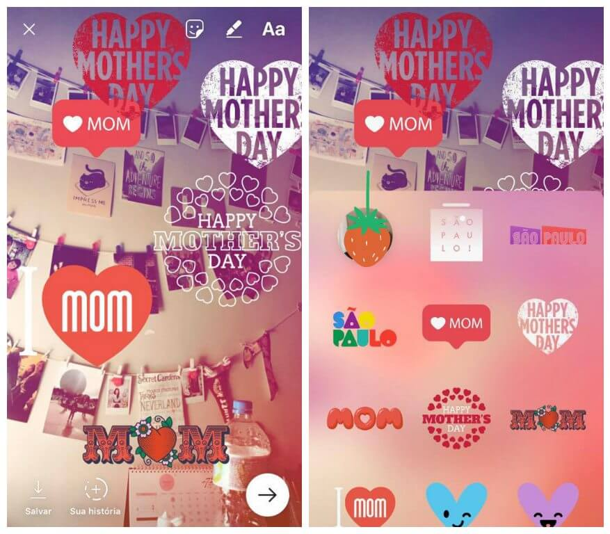 Instagram Stories lança filtros exclusivos para o Dia das Mães