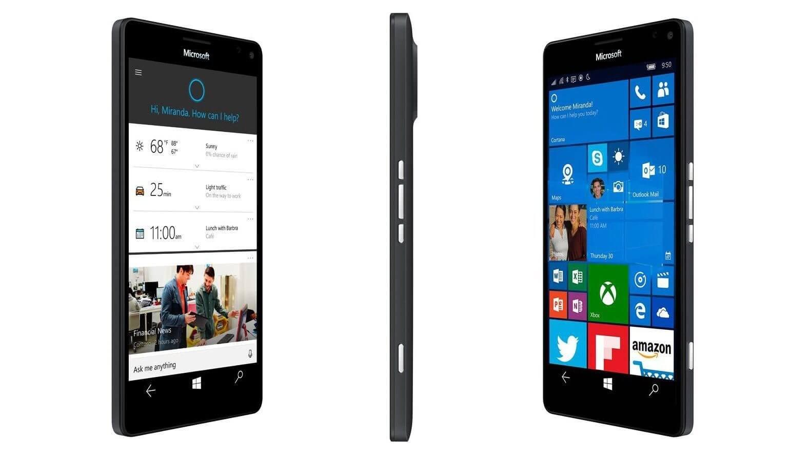 microsoft lumia 950 950 xl price release date specs uk features - Lumia 950 era mais interessante no plano original da Microsoft