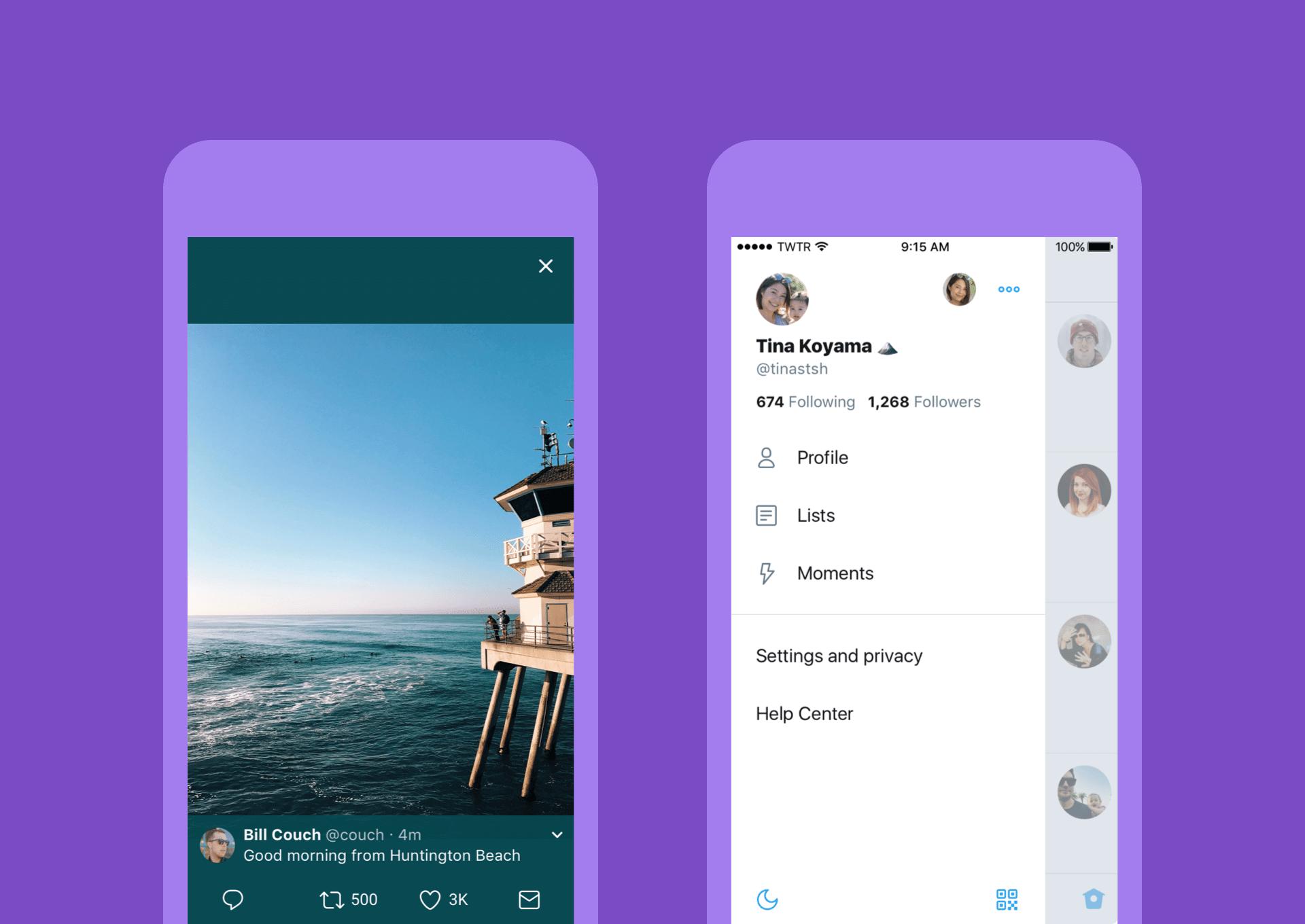 Twitter e Skype mudam design em novas atualizações