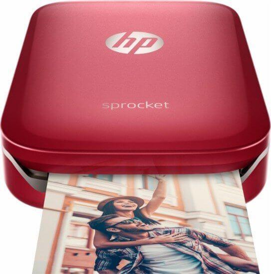 Prático e portátil a nova impressora instantânea da hp cabe na palma da mão