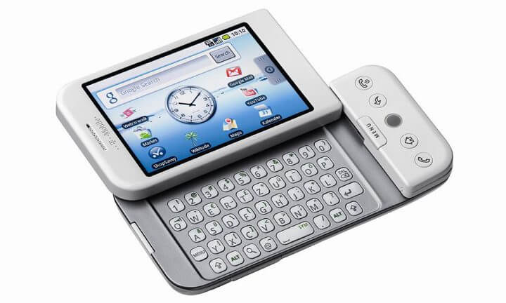 iPhone, Apple, Android, 10 anos - HTC Dream