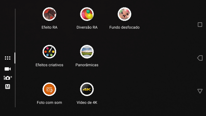 as câmeras e a tela do Xperia XZ Premium