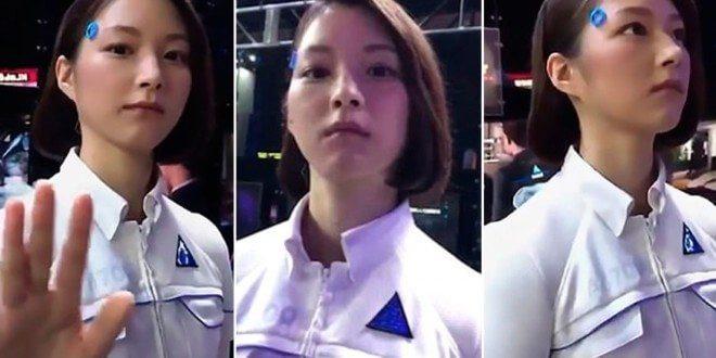 """androide - Atores se passam por androides em evento de games e """"enganam o mundo"""""""