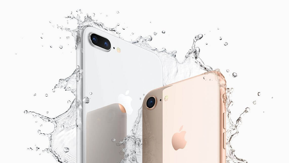 iPhone8Plus iPhone8 water - Apple anuncia novos iPhone 8 e iPhone 8 Plus