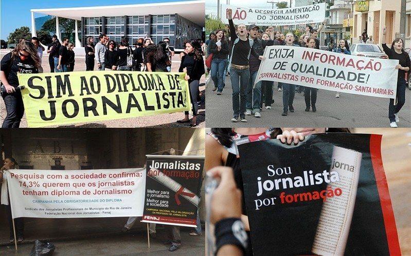 protestos jornalistas - Blogueiro pode virar profissão sob um Projeto de Lei