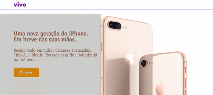 Screenshot 1 720x322 - Pré-venda do iPhone 8 e 8 Plus é iniciada pela Vivo