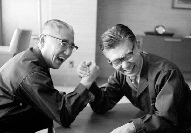 Sony Masaru Ibuka e Akio Morita - Sony comemora 45 anos no Brasil; relembre essa história marcante