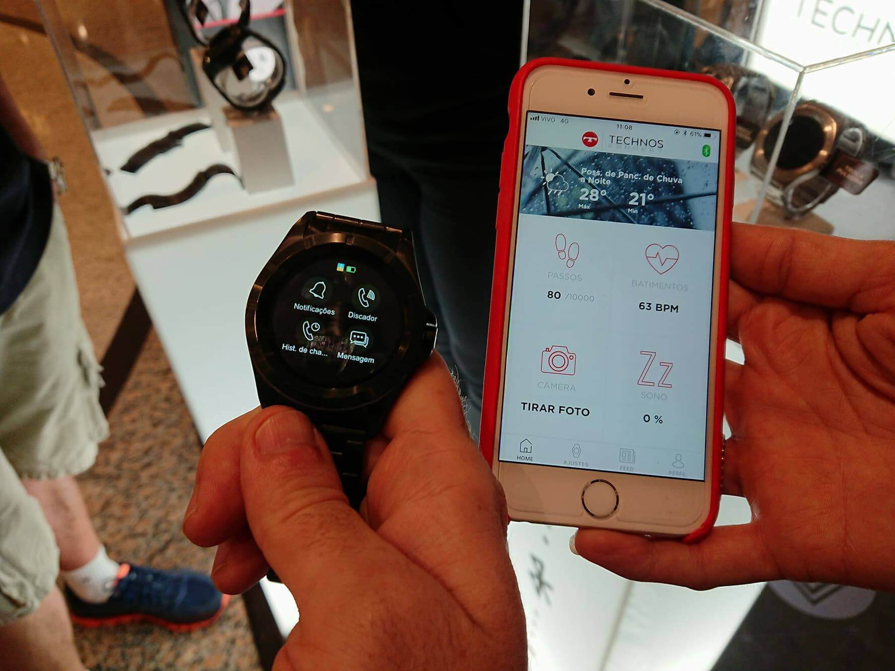 24208910 10157304327898312 720573974 o - Technos lança o primeiro smartwatch brasileiro com Full Display Touch