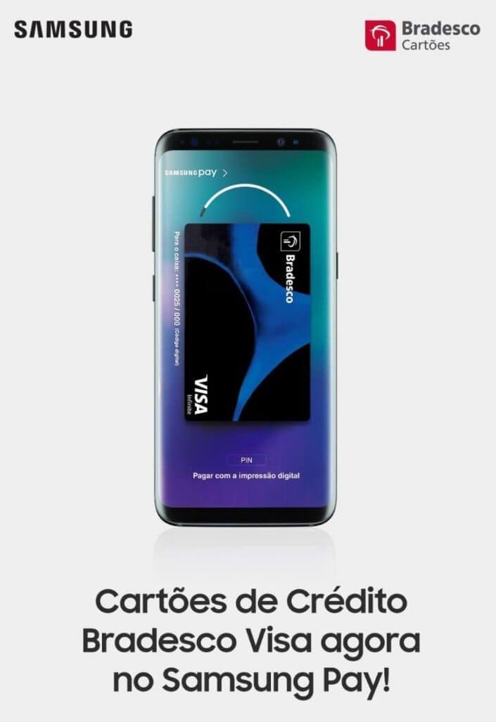 Cartões Bradesco entram no Samsung Pay