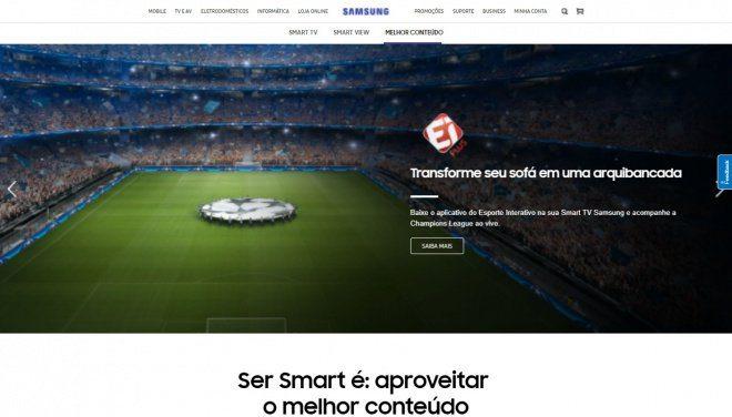 Samsung lança site com conteúdo exclusivo aos usuários de Smart TVs