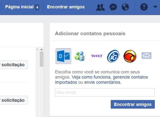 Como o Facebook descobre quem você conhece fora da rede
