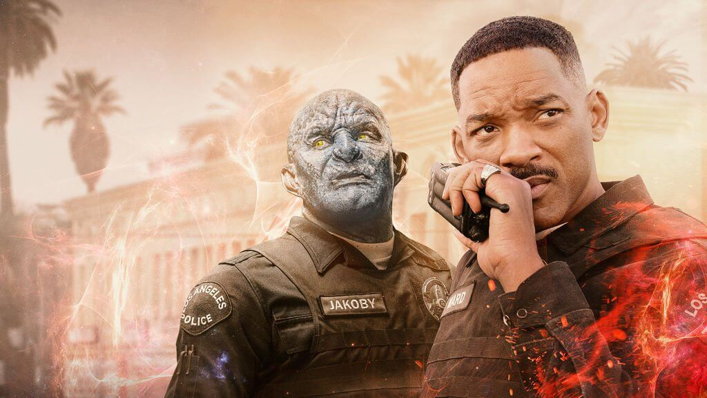 Joel Edgerton e Will Smith em Bright.