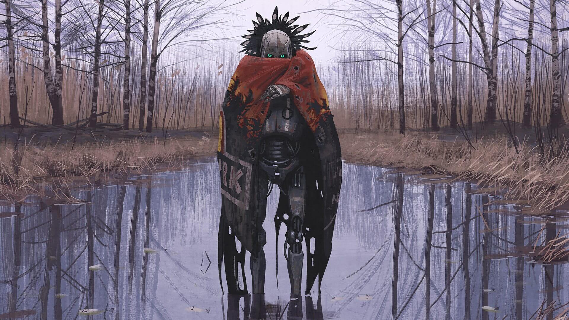 Surreal: artista sueco cria paisagens futurísticas impressionantes. O artista simon stålenhag tem um portfólio incrível de imagens incomuns e cheias de referências a games e ficção científica em geral.