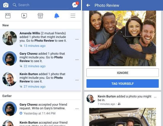 Facebook irá te avisar quando uma foto sua for publicada por terceiros