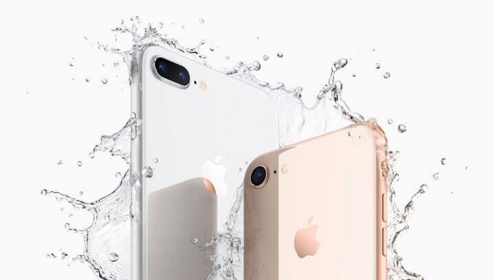 iPhone8Plus iPhone8 water 720x407 - REVIEW: iPhone 8 e iPhone 8 Plus, evolução natural