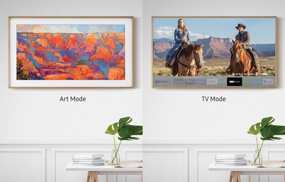 """the frame samsung modes - TV da Samsung """"The Frame"""" recebe novos quadros, de Monalisa até A Última Ceia"""