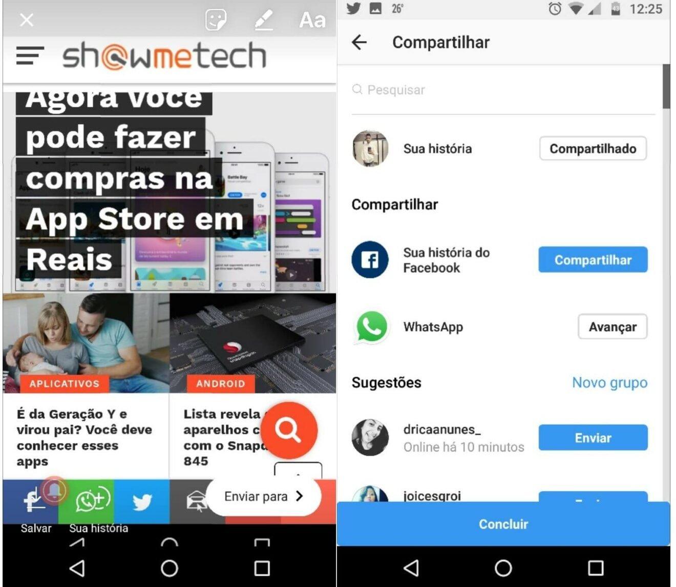 Como compartilhar a foto no Instagram Stories e WhatsApp Status ao mesmo tempo 4