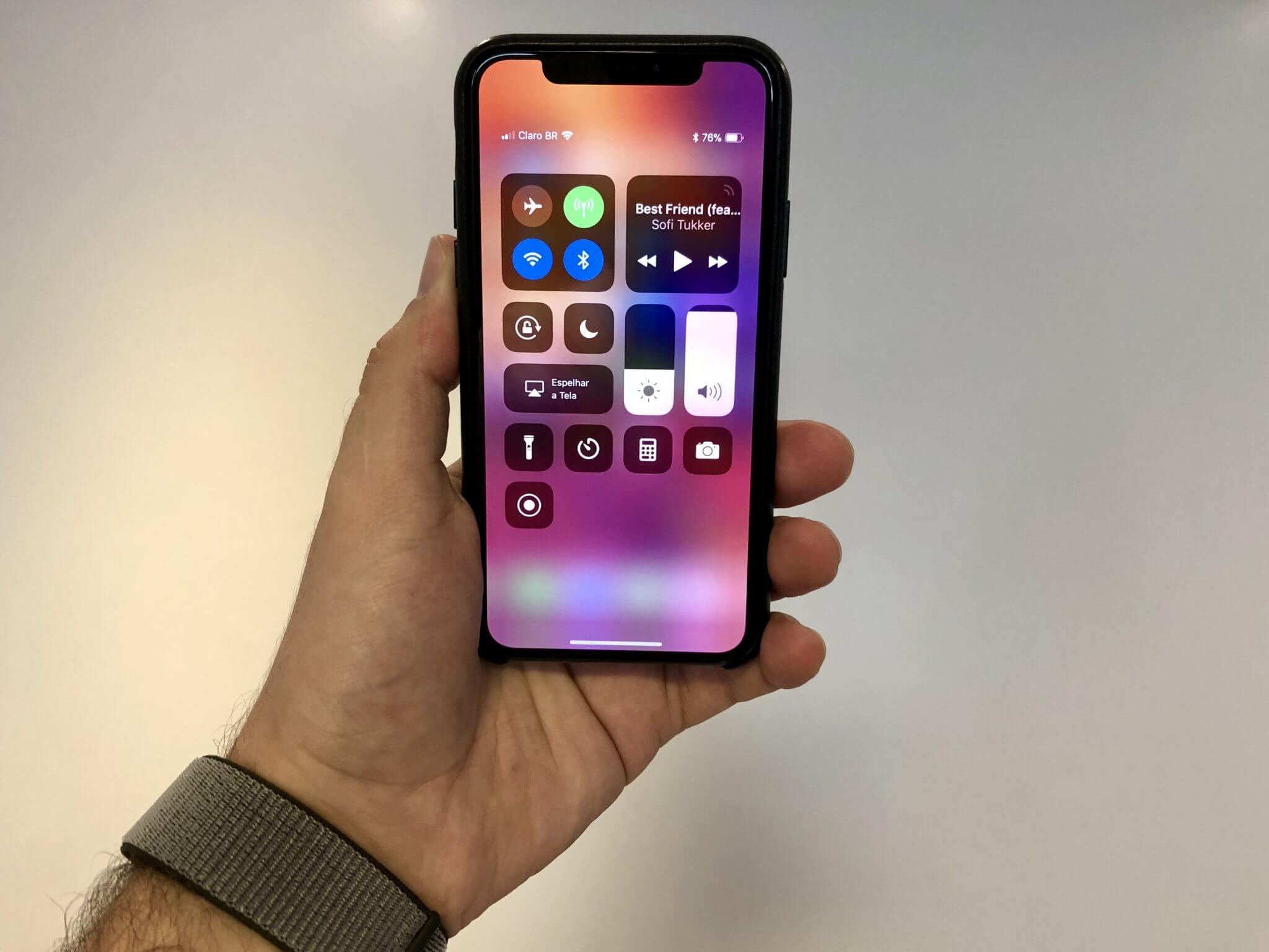 Como funcionam os gestos no iPhone X
