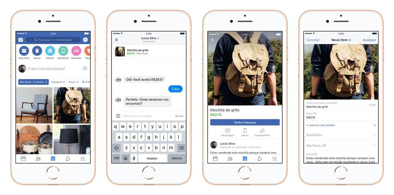 Brazil In Phone mocks preview - Facebook lança Marketplace no Brasil