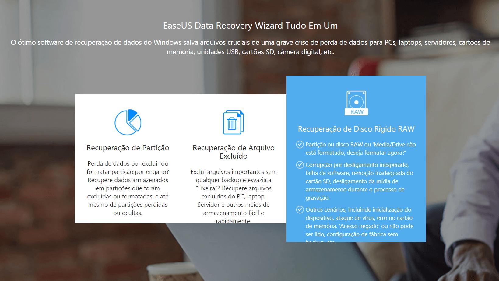 Como recuperar arquivos deletados ou corrompidos com o DRW da EaseUS