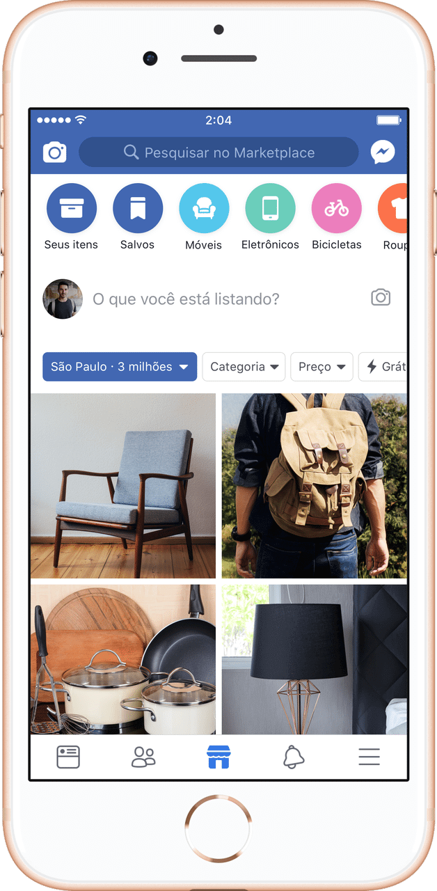 Feed preview - Facebook lança Marketplace no Brasil