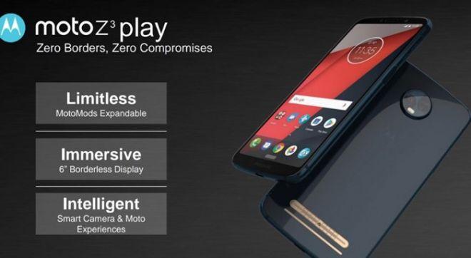 MOTOZ3 PLAY - Vazamentos da Motorola revelam as especificações do Moto G6, Moto X5 e Moto Z3