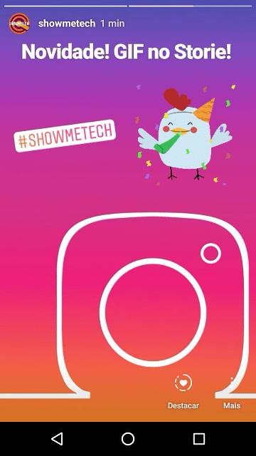 Screenshot 20180124 102213 - Aprenda como inserir GIF's no Stories do Instagram