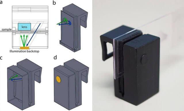Esse acessório transforma seu smartphone num microscópio completo. Pesquisadores da austrália desenvolveram um microscópio para smartphone que você pode imprirmir em casa, com uma impressora 3d. Confira