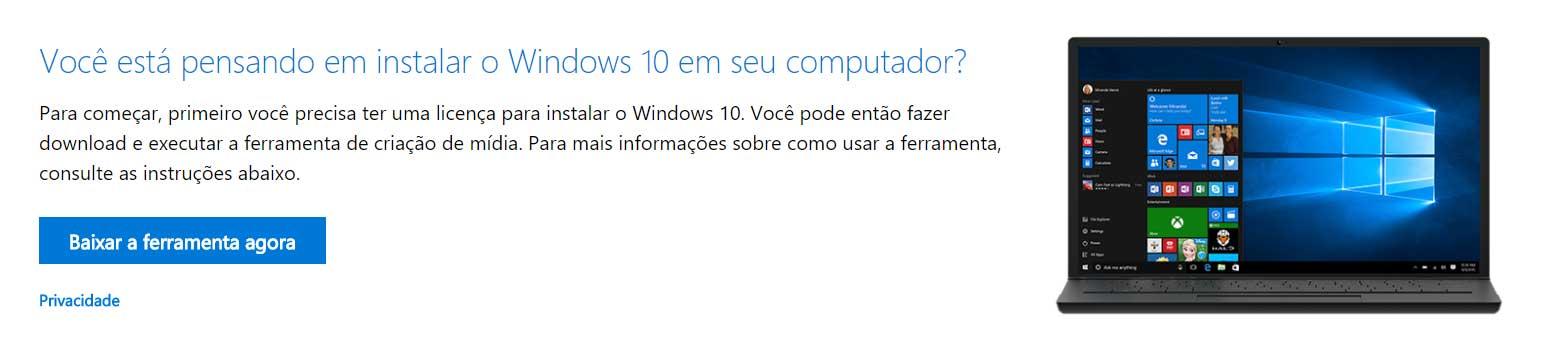 Confira como fazer a instalação do Windows 10 a partir de um pendrive