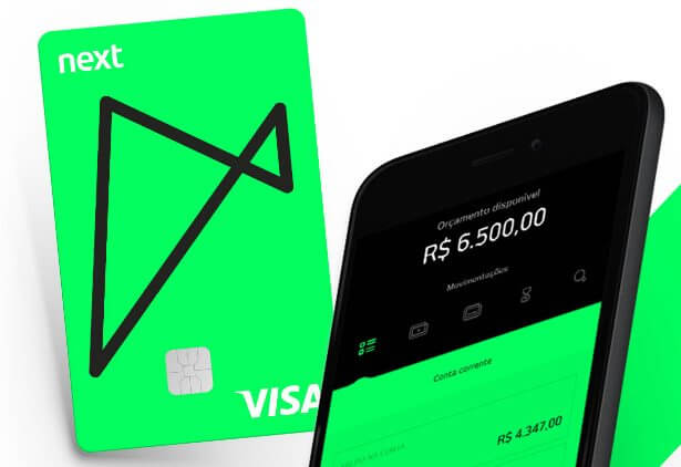 Banco next lança conta e cartão de crédito gratuitos; conheça as vantagens. Novo plano gratuito do banco virtual next garante saques e transferências ilimitadas, além de descontos em cinemas, livrarias e cursos.