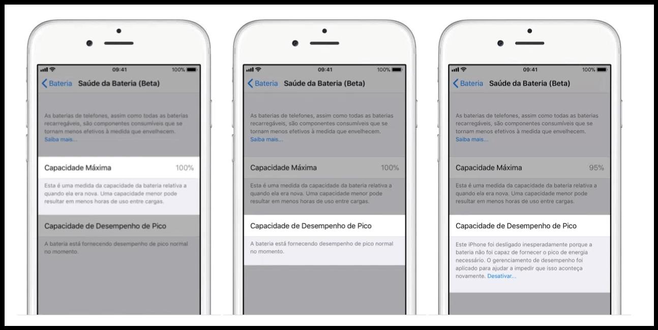 """iPhone ganha novo recurso para detalhar a """"saúde da bateria"""" 7"""