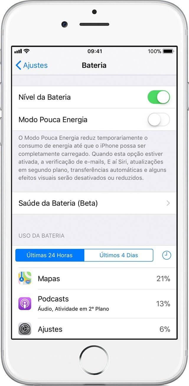 """iPhone ganha novo recurso para detalhar a """"saúde da bateria"""""""