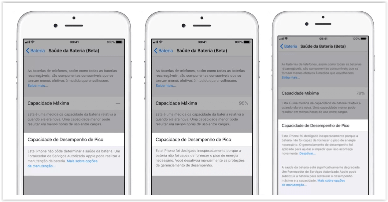 """iPhone ganha novo recurso para detalhar a """"saúde da bateria"""" 8"""