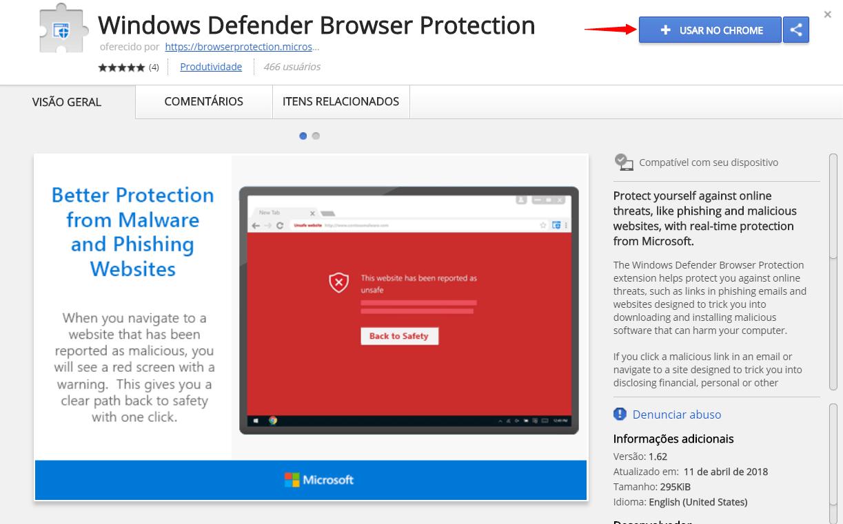 Tutorial: proteja-se de malwares com a extensão do windows defender para google chrome. Proteção nunca é demais. E é por isso que a microsoft lançou uma extensão do windows defender para o navegador mais usado no mundo. Venha com a gente para aprender como usá-la!
