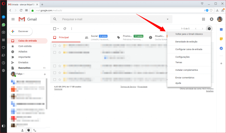 6 720x423 - Tutorial: Como ativar o novo design do Gmail