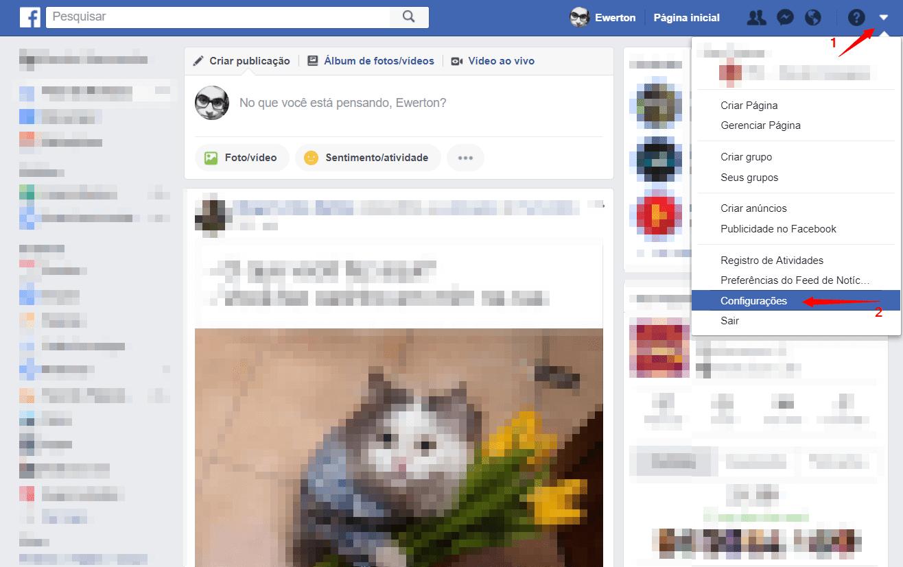 Passo 1 pronto - Como excluir os aplicativos e sites permitidos em sua conta do Facebook