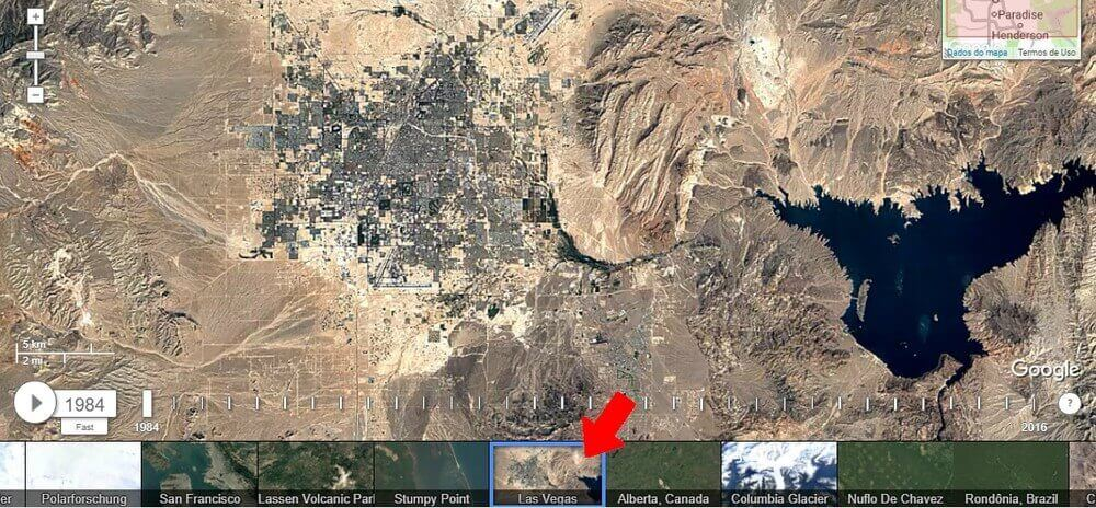 Confira as mudanças em sua cidade com o Google Earth