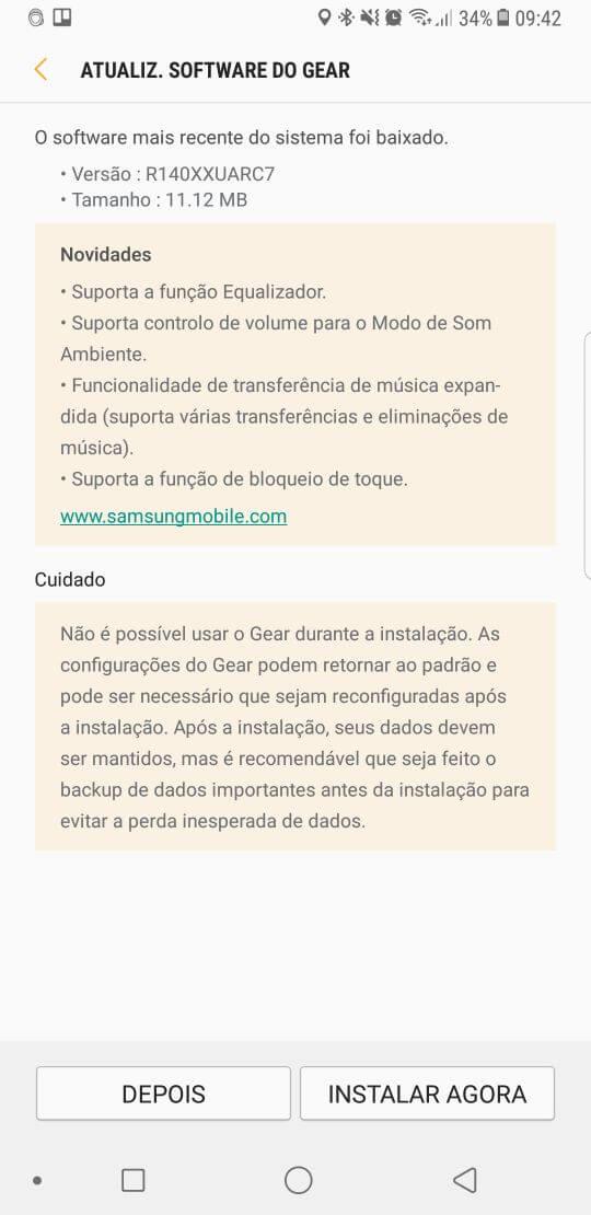 feeb37ea 3f10 4c0e a041 b0c7fd4c1726 - Samsung Gear IconX 2018 ganha atualização com várias novidades
