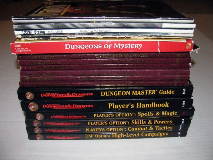 2nd Edition Advanced Dungeons and Dragons Lot 720x540 - Augmented Reality & Dragons: conheça a realidade aumentada para RPG
