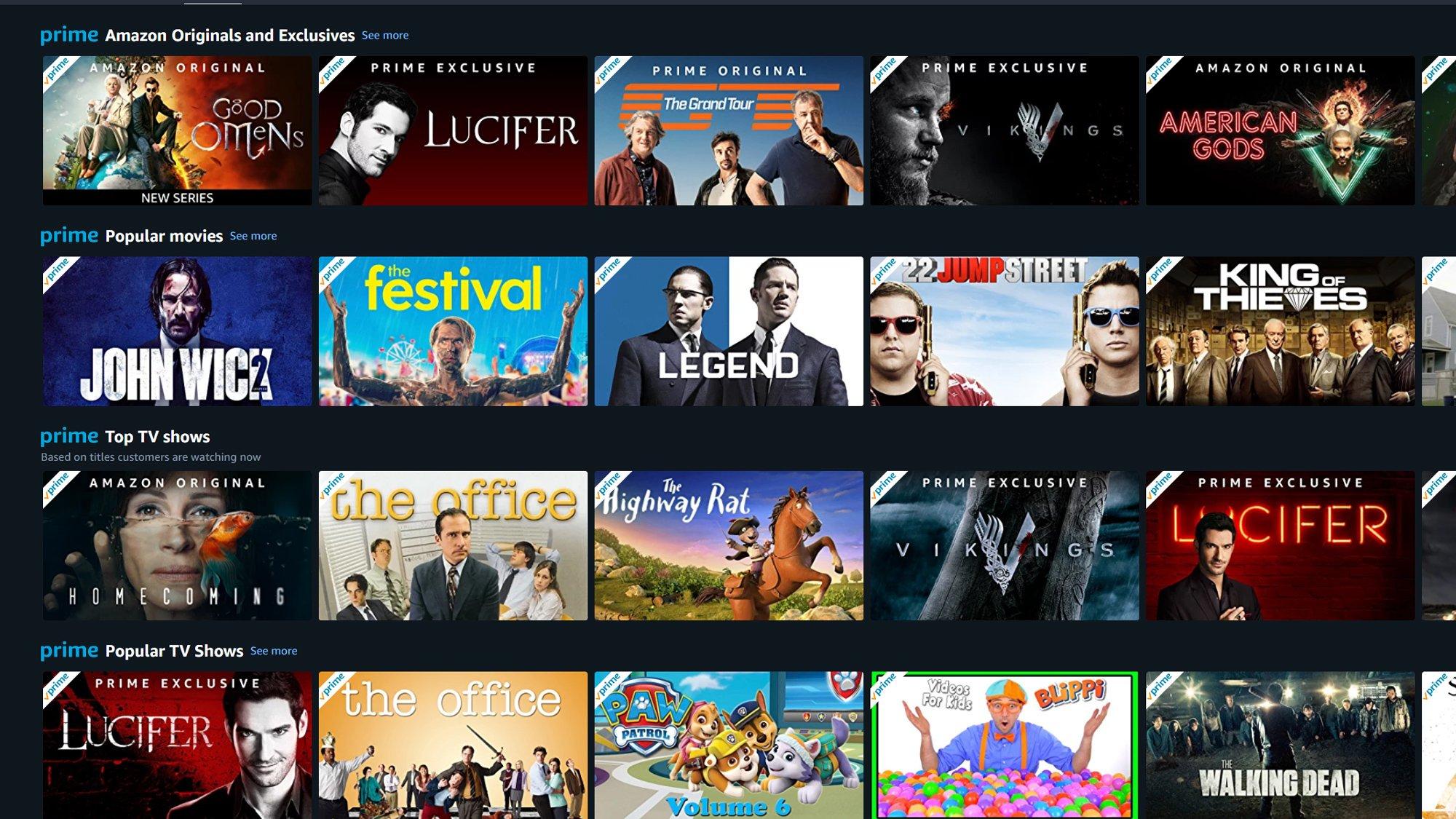 Amazon Prime Gratis Filme